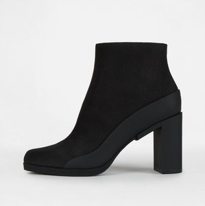 DKNY Phoebe Ankle Bootie With Rubber Heel - Black